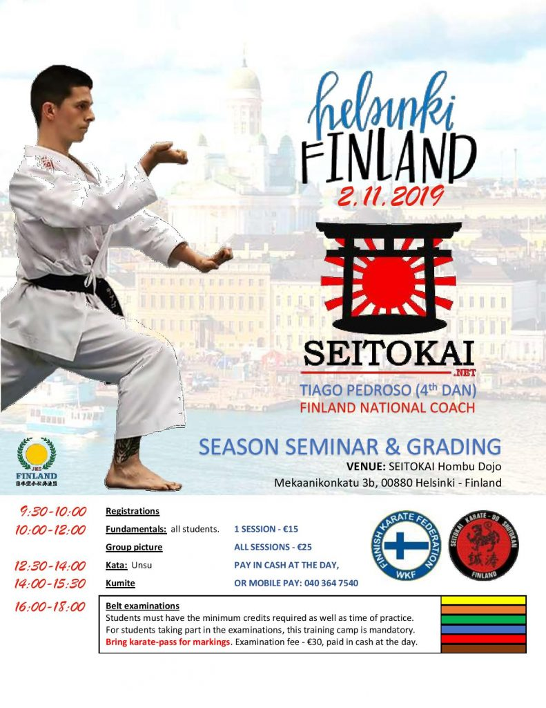 SEITOKAI seminar & belt test @ SEITOKAI Hombu Dojo