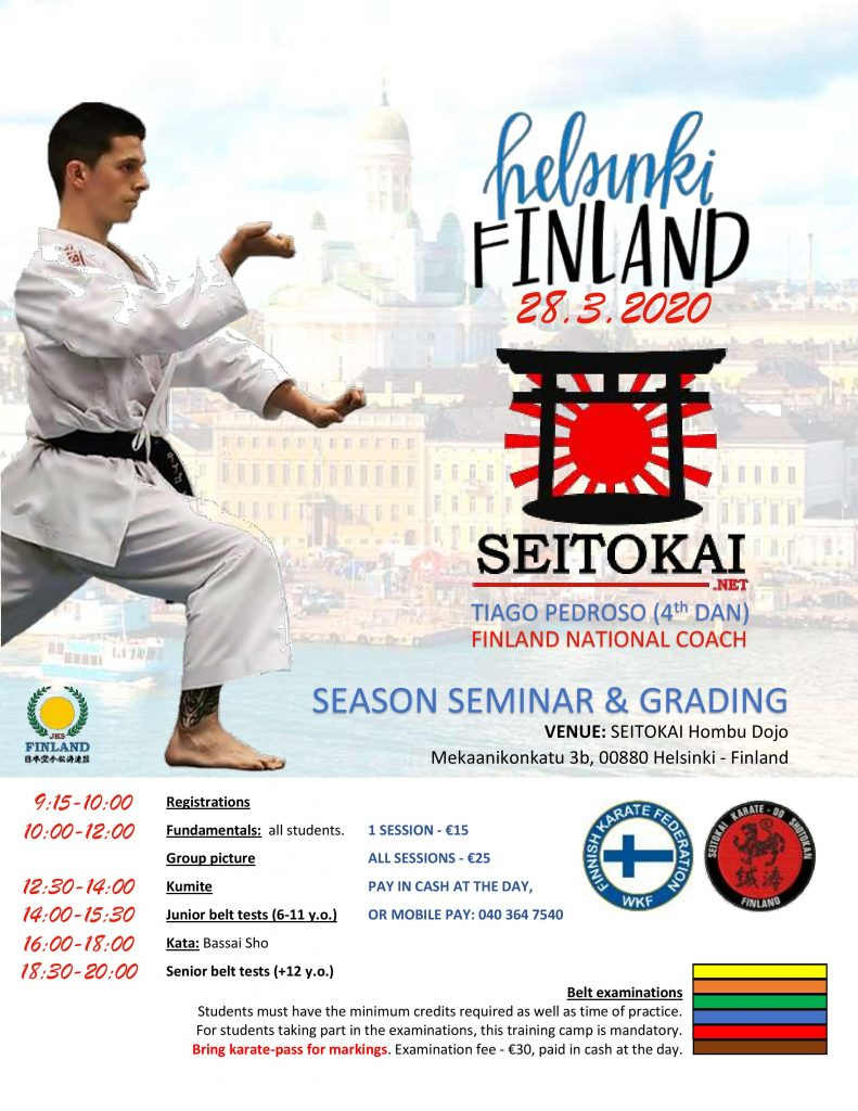 SEITOKAI season seminar & belt test